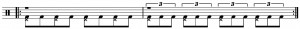 Bass Drum Exercise 3 for Bass Drum Article One