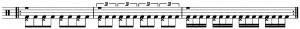 Bass Drum Exercise 4 for Bass Drum Article One